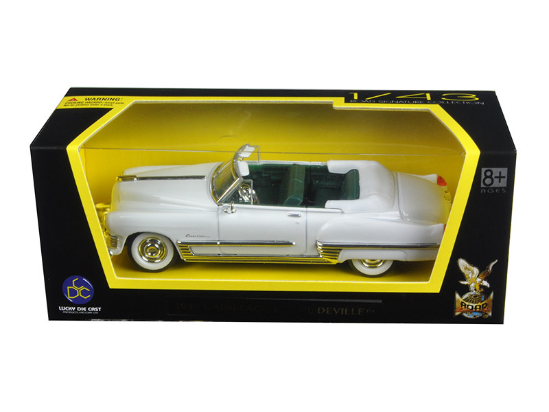 1949 Cadillac Coupe De Ville White 1/43 Diecast Model Car Road Signature 94223