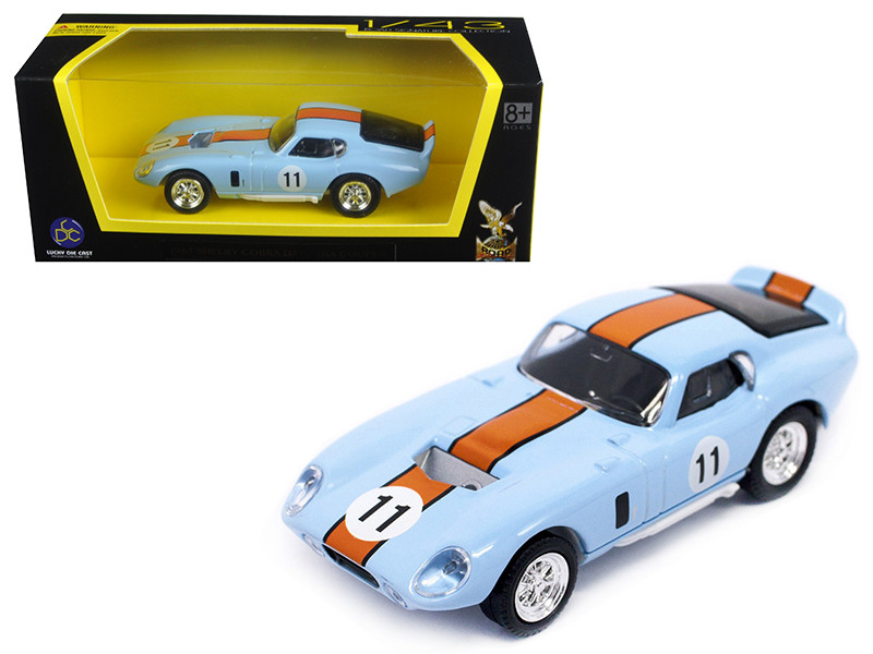 1965 Shelby Cobra Daytona Coupe Light Blue #11 1/43 Diecast Model Car Road Signature 94242
