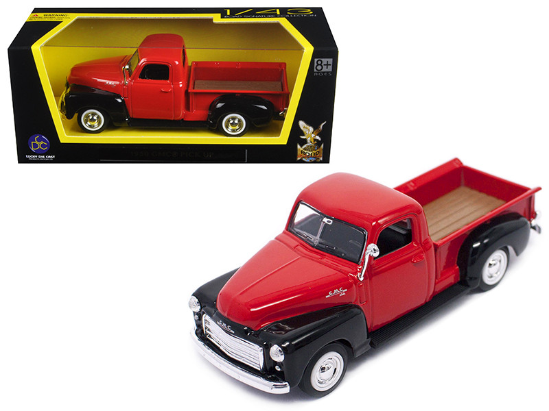 1950 GMC Pickup Truck Red Black 1/43 Diecast Model Car Road Signature 94255
