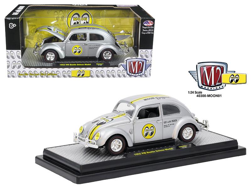 1952 Volkswagen Beetle Deluxe Model Mooneyes 1/24 Diecast Model Car M2 Machines 40300-MOON01A