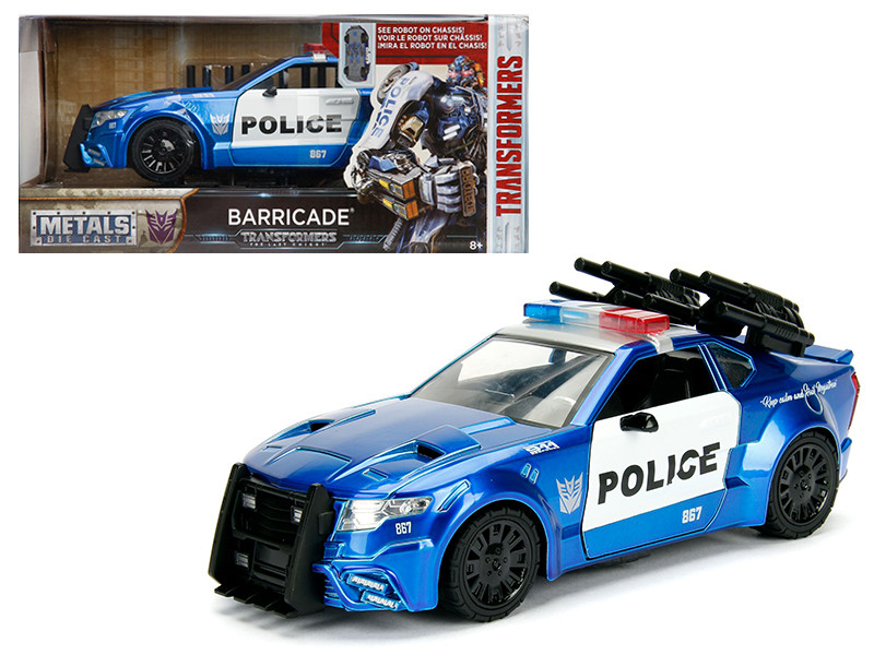 Barricade Custom Police Car From Transformers Movie 1/24 Diecast Model Car Jada Metals 98400