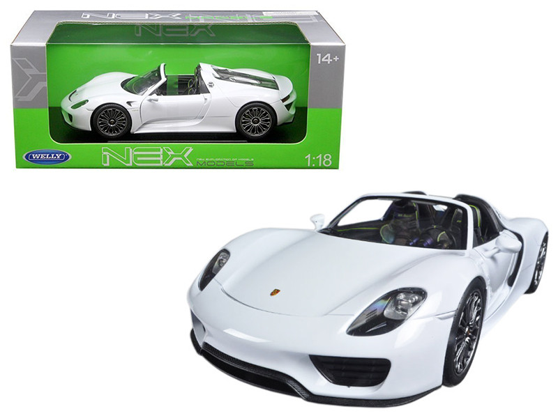 Porsche 918 Spyder No Top White 1/18 Diecast Model Car Welly 18051 CW-W