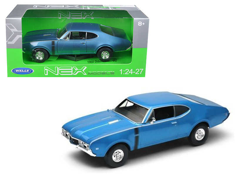1968 Oldsmobile 442 Blue 1/24 Diecast Model Car Welly 24024