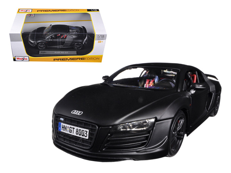Audi R8 GT Matt Black 1/18 Diecast Car Model Maisto 36190
