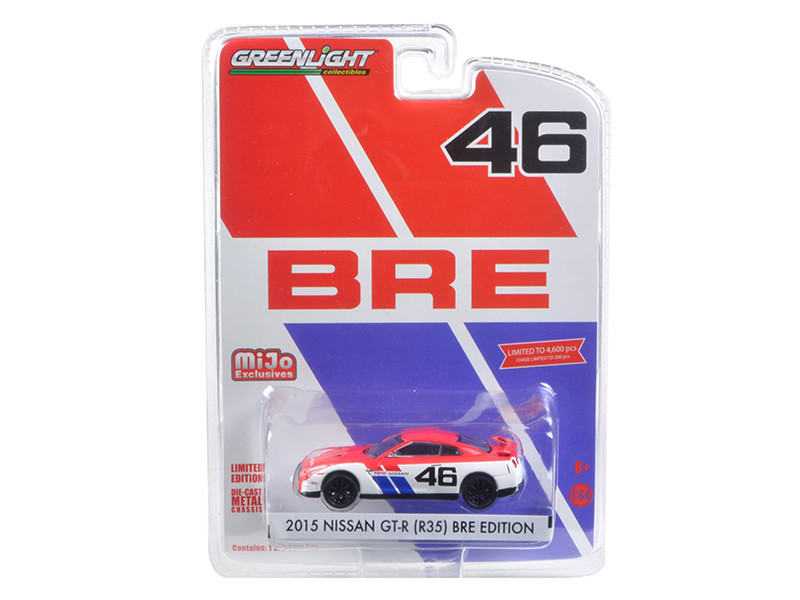 2015 Nissan GT-R R35 #46 BRE Edition Limited to 4600pc 1/64 Diecast Model Car Greenlight 51070