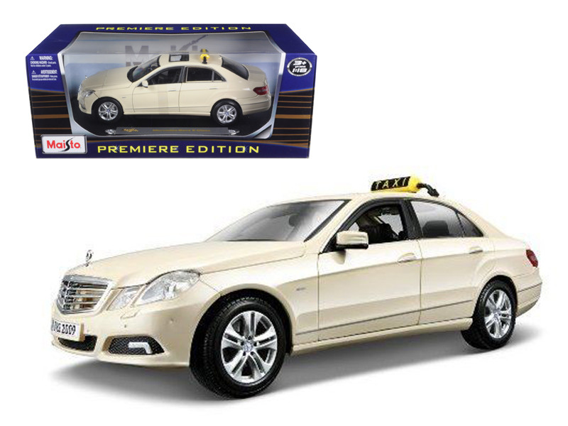 2010 Mercedes E Class German Taxi 1/18 Diecast Model Car Maisto 36191