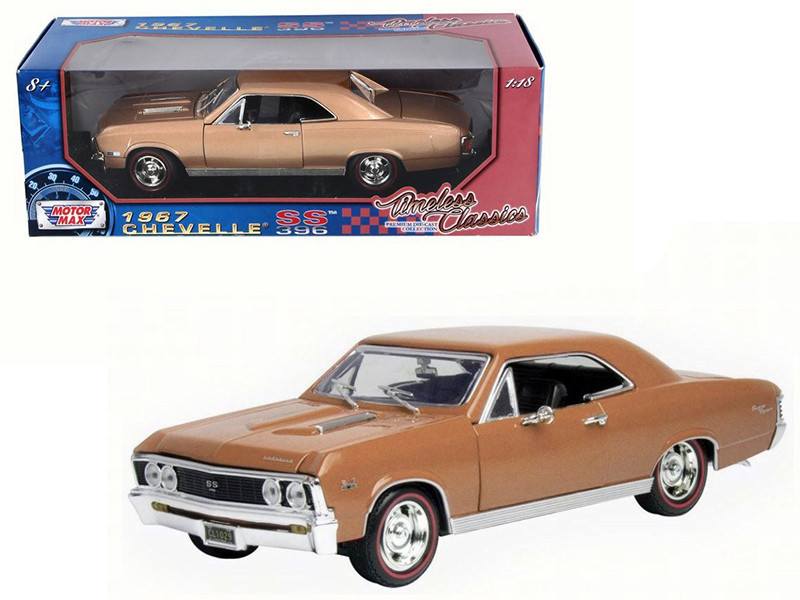 1967 Chevrolet Chevelle SS 396 Golden Brown Timeless Classics 1/18 Diecast Model Car Motormax 73104