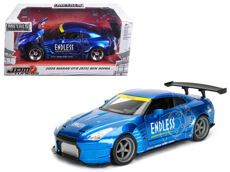 2009 Nissan GT-R R35 Ben Sopra Blue JDM Tuners 1/24 Diecast Model Car Jada 98647