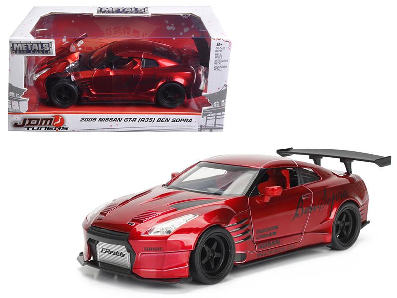 2009 Nissan GT-R R35 Ben Sopra Red JDM Tuners 1/24 Diecast Model Car Jada 99215