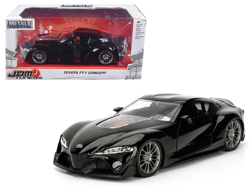 Toyota FT-1 Concept Black JDM Tuners 1/24 Diecast Model Car Jada 98687