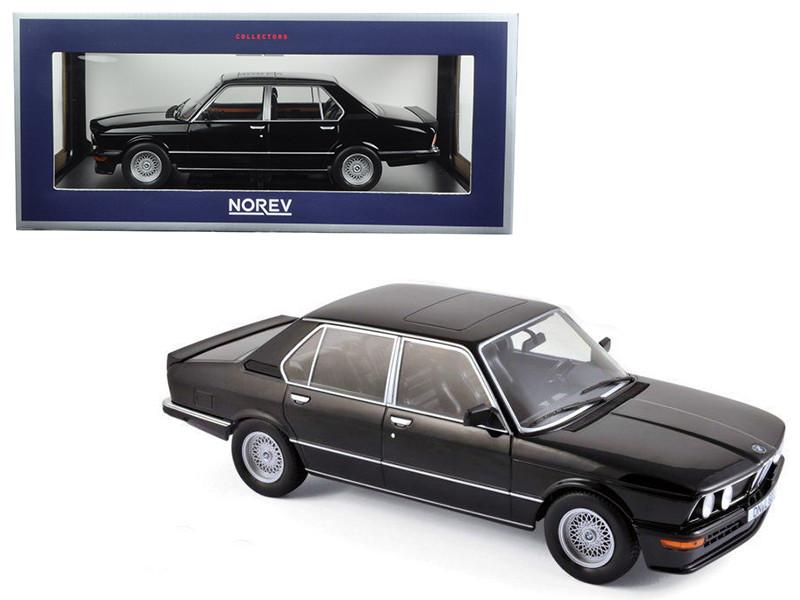 1980 BMW M535i Black 1/18 Diecast Model Car Norev 183264