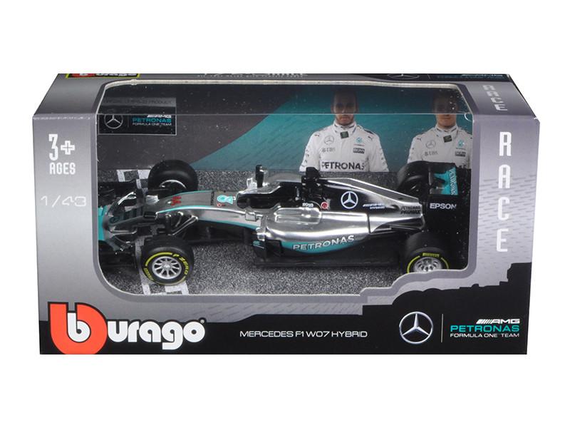 Mercedes AMG Petronas F1 W07 #44 Hybrid Lewis Hamilton F1 Formula 1 Car 1/43 Diecast Model Car Bburago 38026 LH