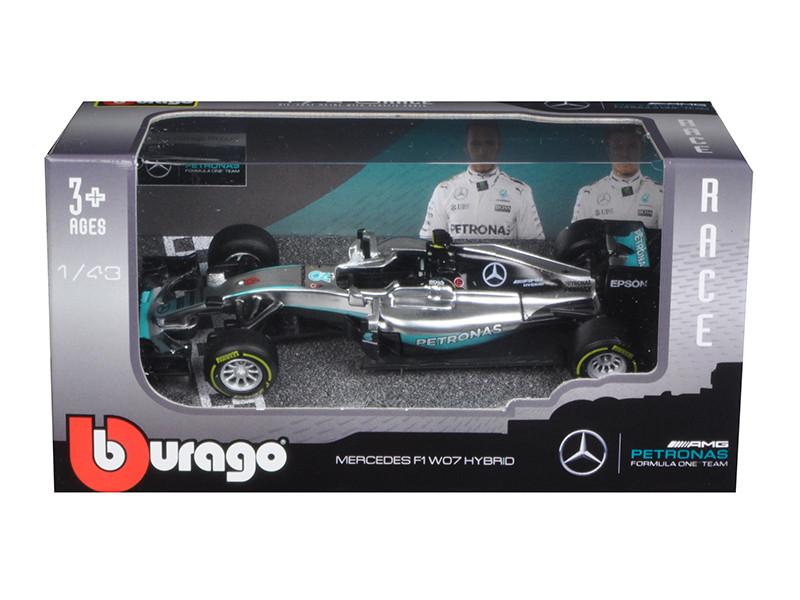 Mercedes AMG Petronas F1 W07 #6 Hybrid Nico Rosberg F1 Formula 1 Car 1/43 Diecast Model Car Bburago 38026 NR