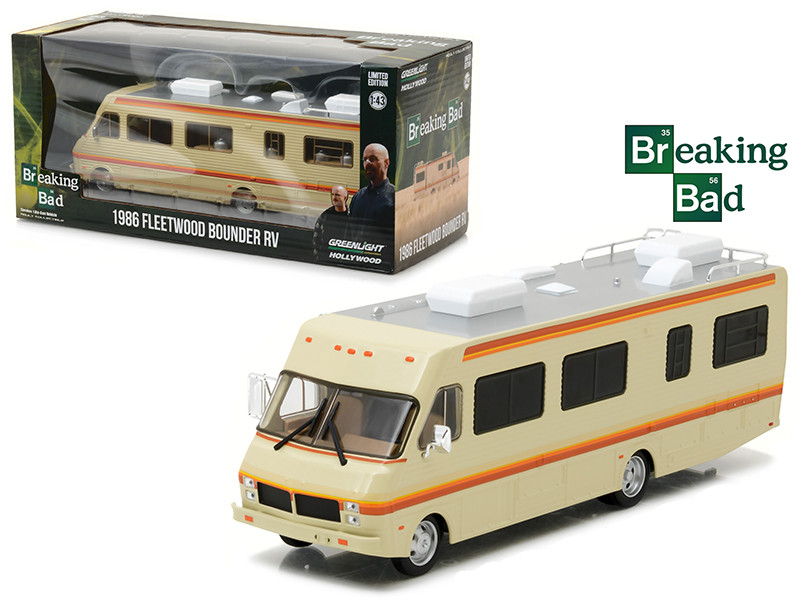1986 Fleetwood Bounder RV Breaking Bad 2008-13 TV Series 1/43 Diecast Model Car Greenlight 86500