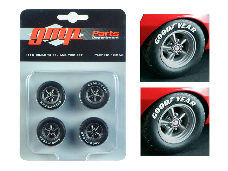 Trans Am Wheels and Tires Set of 4 from 1967 Chevrolet Camaro Z/28 Chevy-Land Heinrich 1/18 GMP 18866