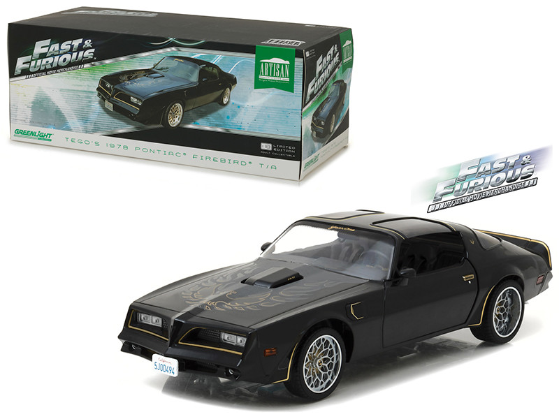Tego's 1978 Pontiac Firebird Trans Am Fast & Furious 2009 Movie Artisan Collection 1/18 Diecast Model Car Greenlight 19026
