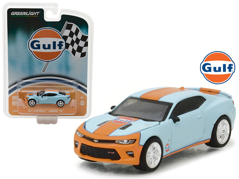 2017 Chevrolet Camaro SS Gulf Oil Hobby Exclusive 1/64 Diecast Model Car Greenlight 29908