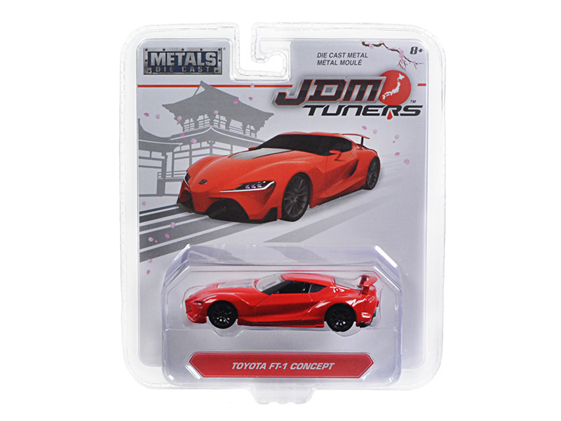Toyota FT-1 Concept Red JDM Tuners 1/64 Diecast Model Car Jada 14036