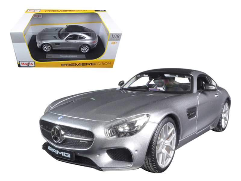 Mercedes AMG GT Silver 1/18 Diecast Model Car Maisto 36204