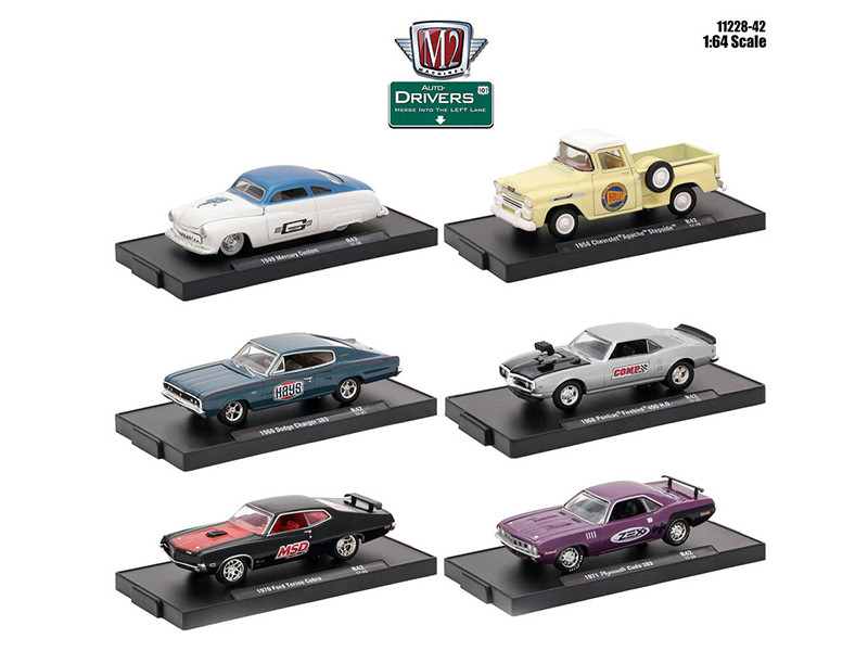 Drivers 6 Cars Set Release 42 In Blister Packs 1/64 Diecast Model Cars M2 Machines 11228-42