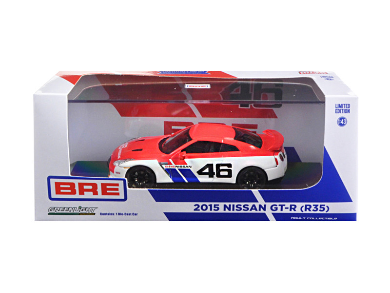 2015 Nissan GT-R R35 BRE #46 Limited Edition 2300pcs 1/43 Diecast Model Car Greenlight 51069