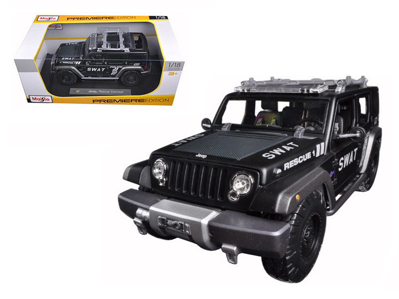 Jeep Rescue Concept Police SWAT Version 1/18 Diecast Model Maisto 36211