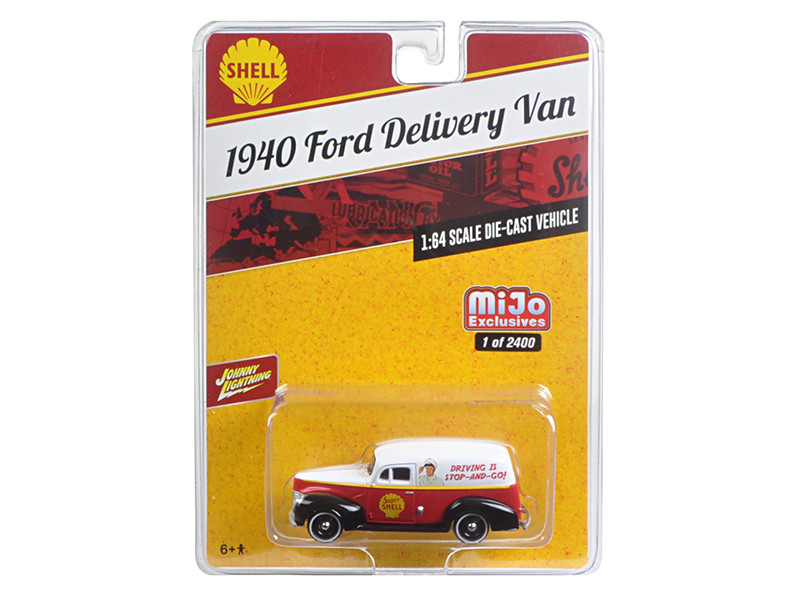 1940 Ford Delivery Van Shell 1/64 Diecast Model Car Johnny Lightning JLCP7016
