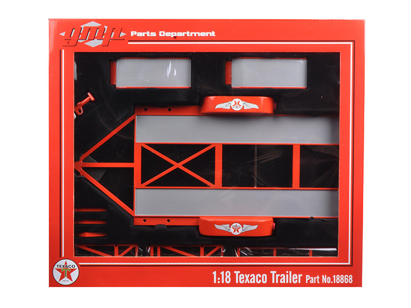 Tandem Car Trailer Texaco with Tire Rack 1/18 Diecast Model GMP 18868