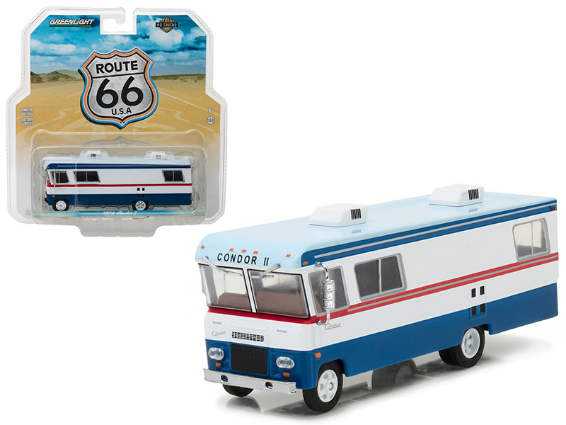 1972 Condor II RV Red White and Blue HD Trucks Series 9 1/64 Diecast Model Greenlight 33090 A