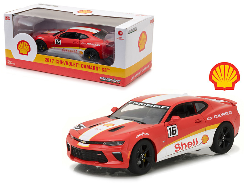 2017 Chevrolet Camaro SS Shell Oil Racing 1/24 Diecast Model Car Greenlight 18239