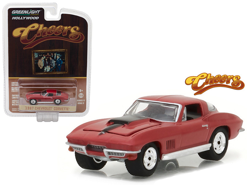 1967 Chevrolet Corvette Sting Ray Cheers 1982-93 TV Series Hollywood Series 17 1/64 Diecast Model Car Greenlight 44770 B