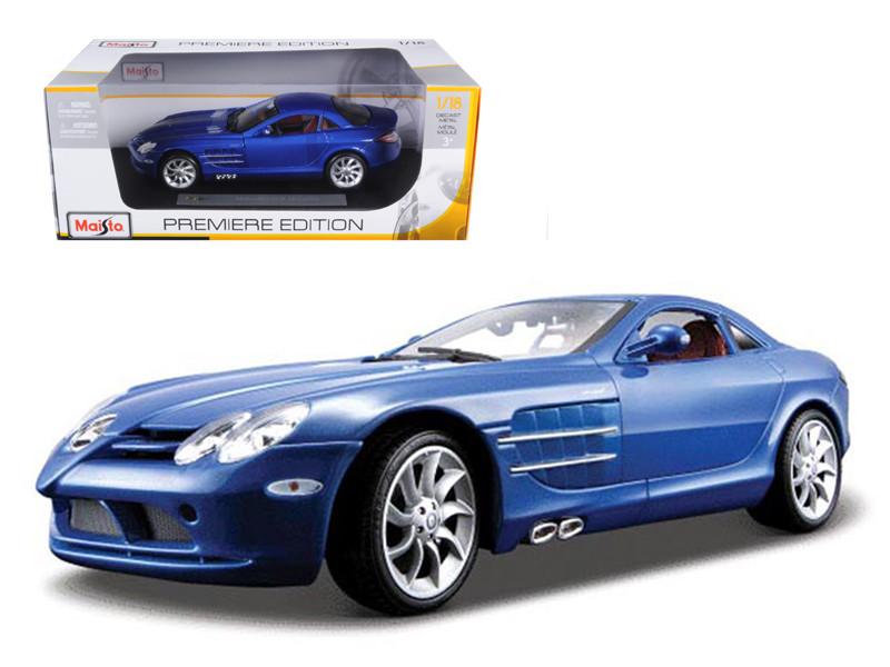 Mercedes Mclaren SLR Blue 1/18 Diecast Model Car Maisto 36653