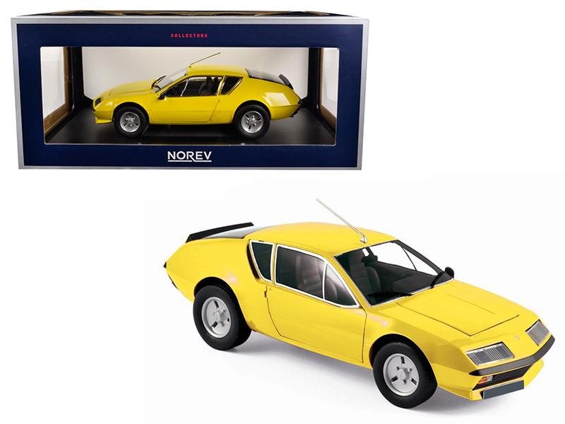 1977 Renault Alpine A310 Yellow 1/18 Diecast Model Car Norev 185143
