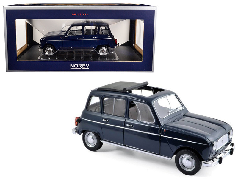 1965 Renault 4 Copenhague Blue 1/18 Diecast Model Car Norev 185241