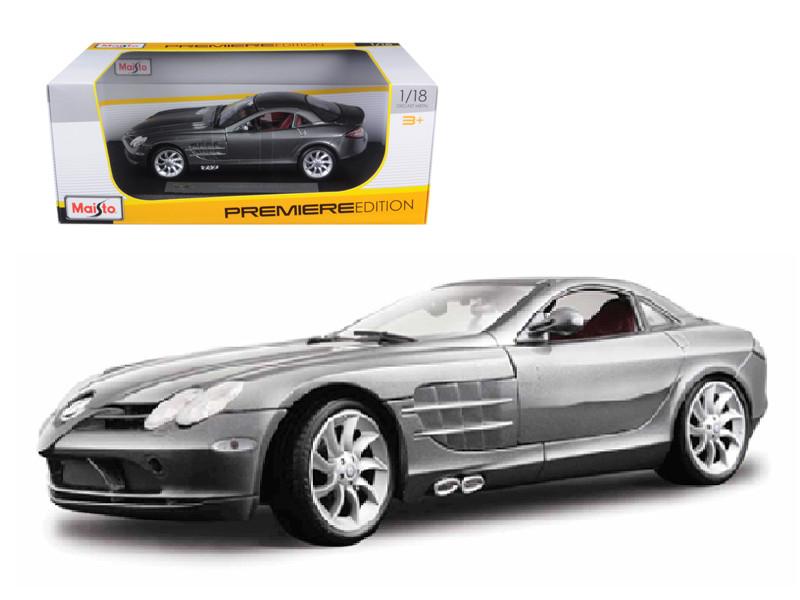 Mercedes Mclaren SLR Grey 1/18 Diecast Model Car Maisto 36653