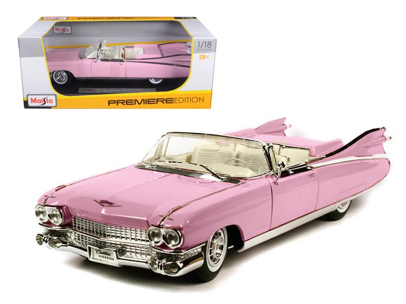 1959 Cadillac Eldorado Biarritz Pink 1/18 Diecast Model Car Maisto 36813