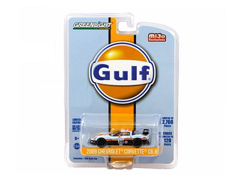 2009 Chevrolet Corvette C6 R #30 Gulf Oil Racing Limited Edition of 2760 1/64 Diecast Model Car Greenlight 51128