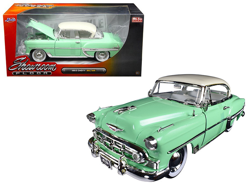 1953 Chevrolet Bel Air Light Green Showroom Floor 1/24 Diecast Model Car Jada 98884
