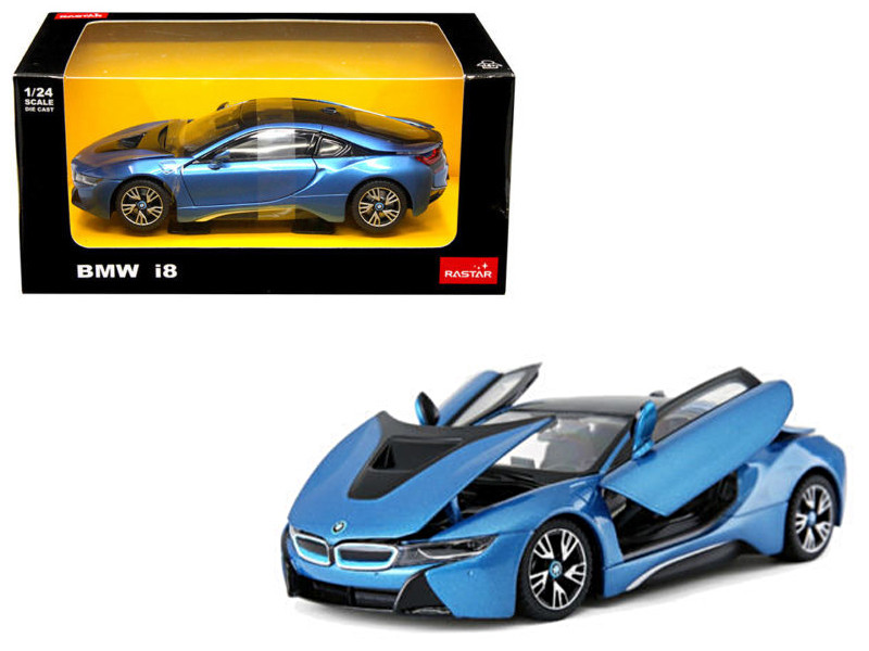 BMW I8 Blue 1/24 Diecast Model Car Rastar 56500