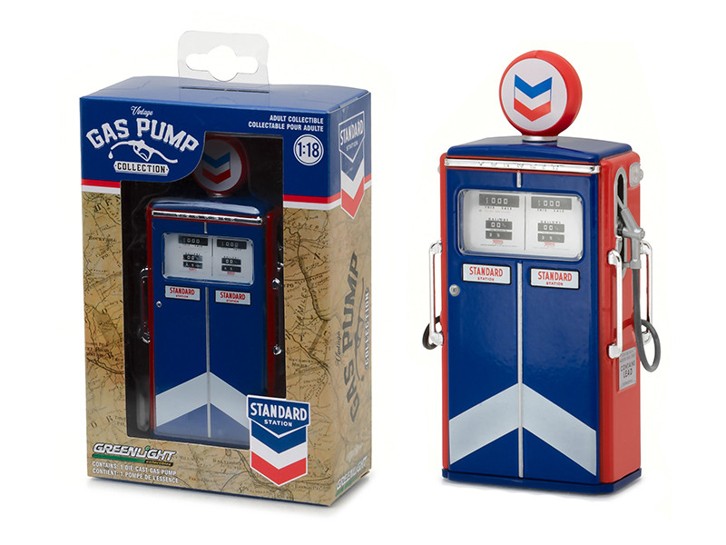 1954 Tokheim 350 Twin Gas Pump Standard Oil Replica Vintage Gas Pump Series 1 1/18 Diecast Model Greenlight 14010 C