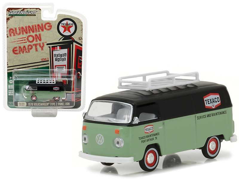 1979 Volkswagen Type 2 Panel Van Texaco Running on Empty Series 3 1/64 Diecast Model Car Greenlight 41030 D