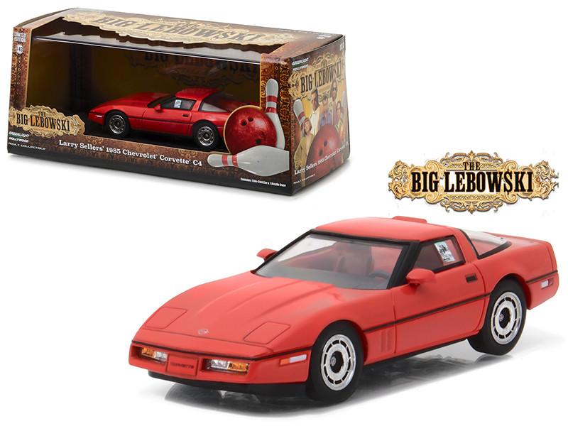 Little Larry Seller's 1985 Chevrolet Corvette C4 Red The Big Lebowski Movie 1998 1/43 Diecast Model Car Greenlight 86497