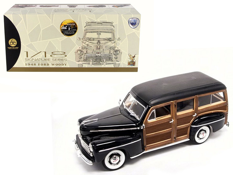 1948 Ford Woody Black 1/18 Diecast Model Car Road Signature 20028