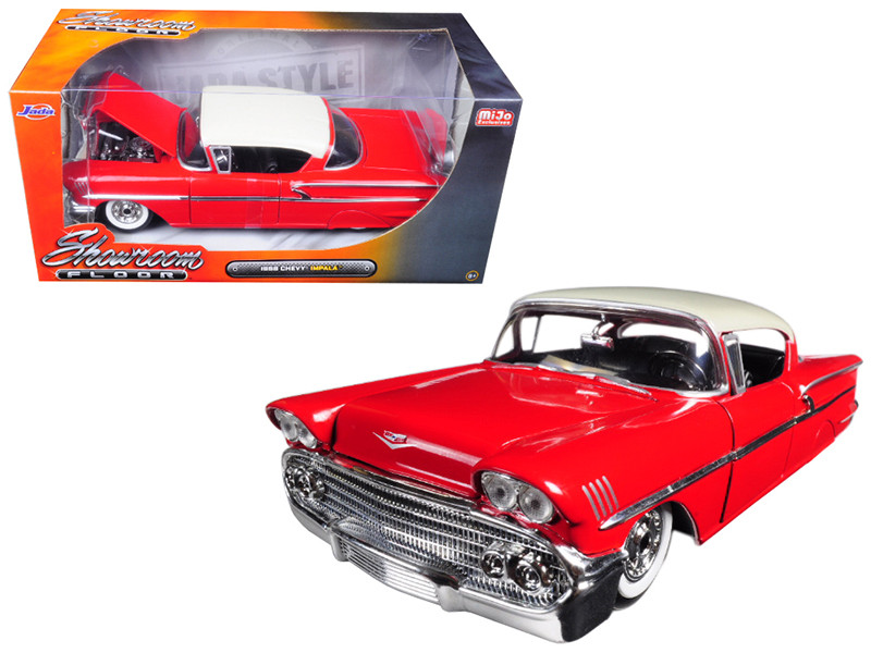 1958 Chevrolet Impala Red Showroom Floor 1/24 Diecast Model Car Jada 98896