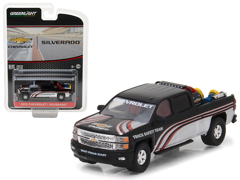 2015 Chevrolet Silverado Pickup Truck with Safety Equipment Hobby Exclusive 1/64 Diecast Model Car Greenlight 29896