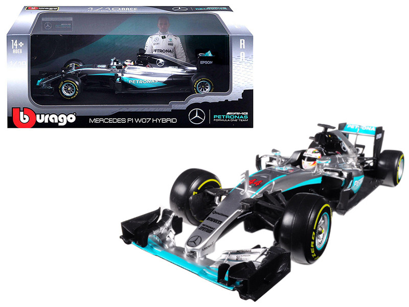 Mercedes AMG F1 W07 Hybrid Petronas Lewis Hamilton 2016 World Drivers Champion 1/18 Diecast Model Car Bburago 18001 LH