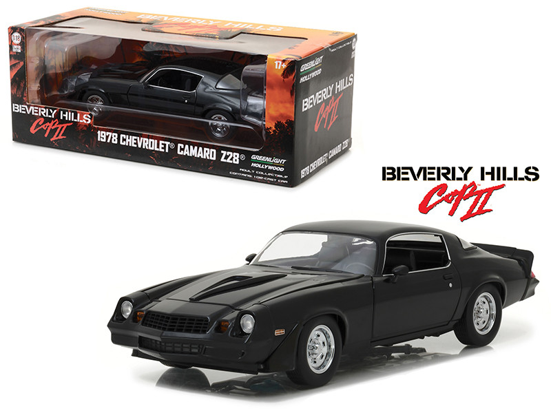 1978 Chevrolet Camaro Z/28 Black From Beverly Hills Cop 2 Movie 1/18 Diecast Model Car Greenlight 13501