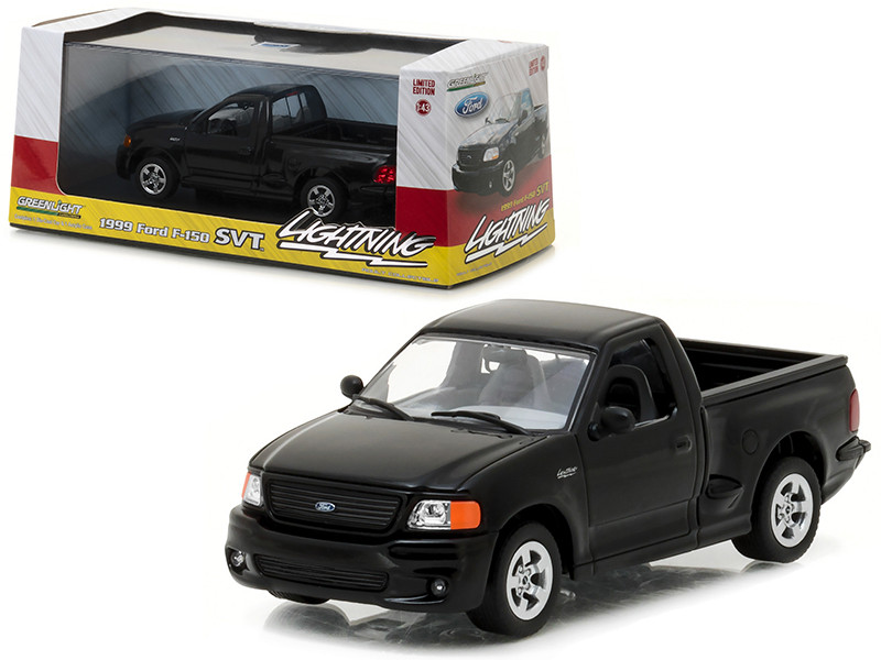 1999 Ford F-150 SVT Lightning Pickup Truck Black 1/43 Diecast Model Car Greenlight 86085