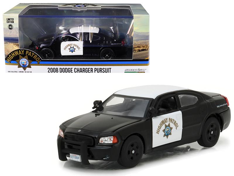 2008 Dodge Charger Police Interceptor Car California Highway Patrol CHP 1/43 Diecast Model Car Greenlight 86087
