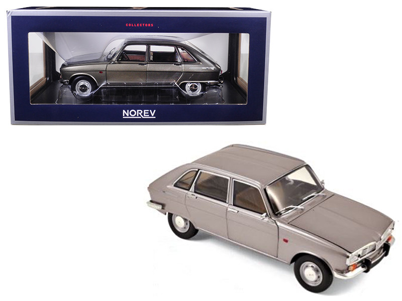 1968 Renault 16 Grey Metallic 1/18 Diecast Model Car Norev 185133